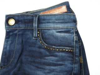 Gas Jeans Star studs front